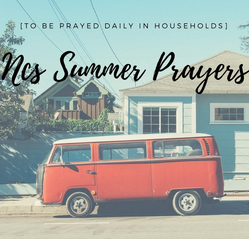 NCS Summer Prayers