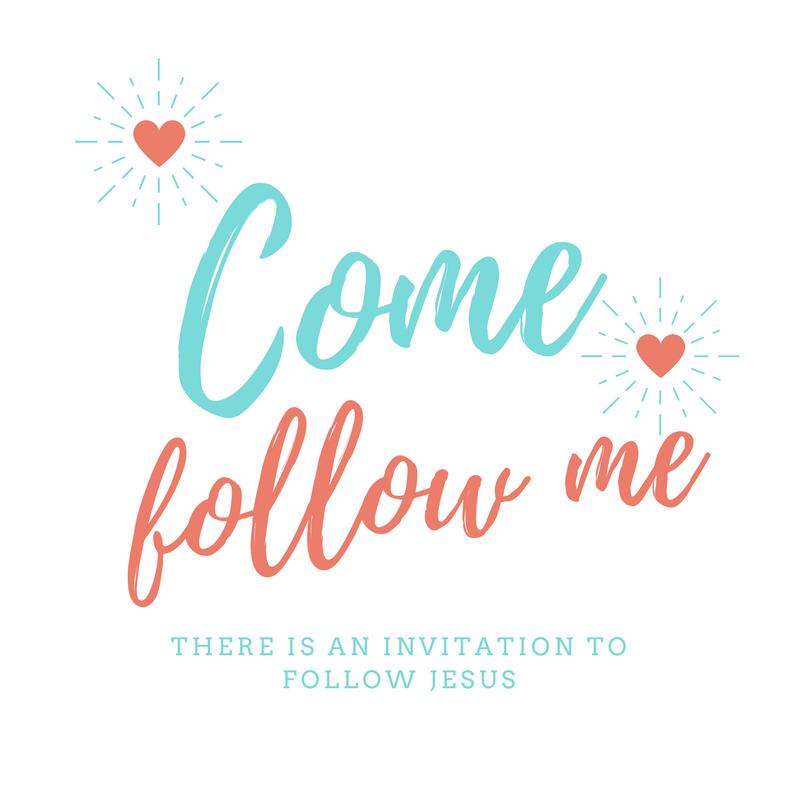 "Jesus says ""Come follow me"""